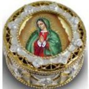 Guadalupe Golden Rosary Box