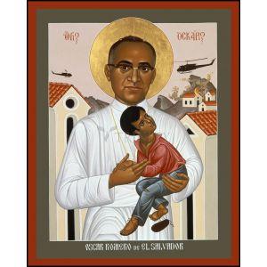 St Oscar Romero 8x10 Wood Plaque Icon