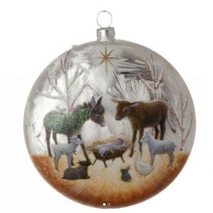 Animal Nativity Ornament