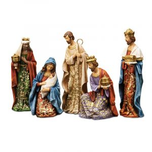 5 piece Goldleaf Nativity Set 8""