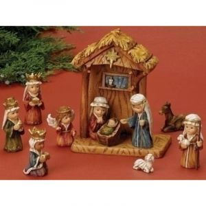 Child Nativity with Stable