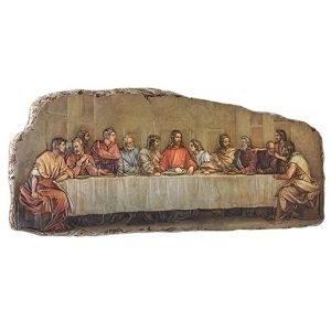 Last Supper Plaque 18""