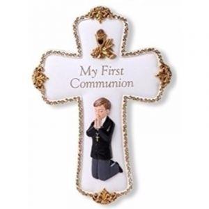 Boy's First Communion Commemorative Cross