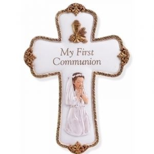 Girl's First Communion Commemorative Cross