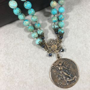 St Michael Turquoise Necklace