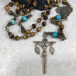 Tiger Eye & Jasper Undoer of Knots Rosary