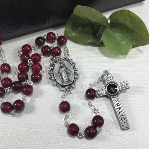 ACM109 Burgundy Relic Rosary