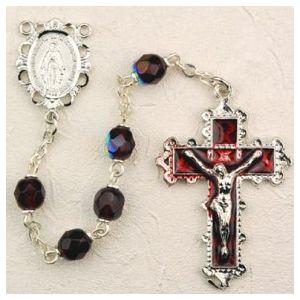 Birthstone Enamel Miraculous Rosary (More Colors)