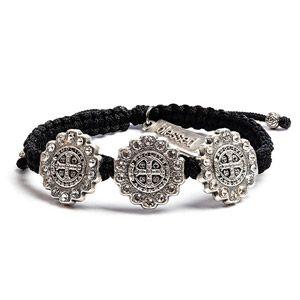 St Benedict Brilliance Trinity Silver Bracelet