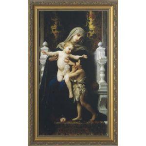 Virgin, Jesus & John the Baptist 8x16