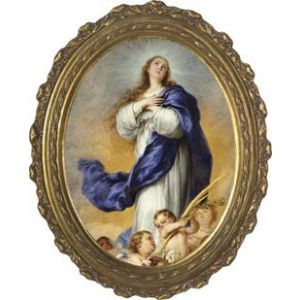 Immaculate Conception Oval 12x16 Picture
