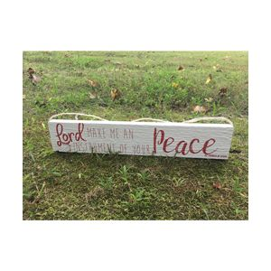 Make Me an Instrument of Peace 3x19 Red Plaque