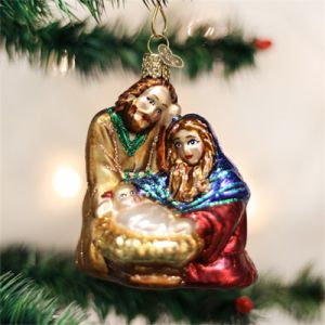 "3.5"" Holy Family Ornament"