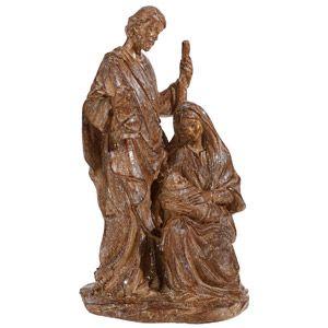 "Holy Family Glitter 12"" Statue"