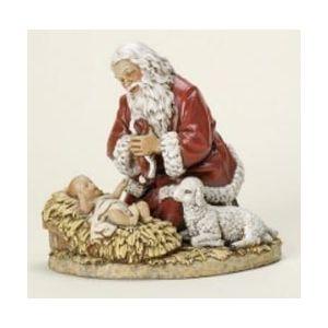 "13"" Kneeling Santa Statue"