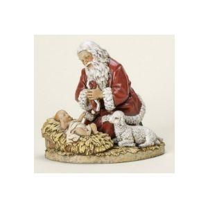 "Kneeling Santa Statue 9"""