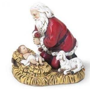 "2.5"" Kneeling Santa Ornament"