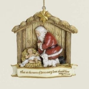 "ACM83 3.5"" Kneeling Santa Ornament"