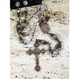 8mm Swarovski Bronze Rosary