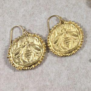 Golden Bee Earrings