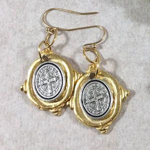 St. Benedict Medal Earrings