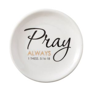 Pray Always Collection Rosary Dish
