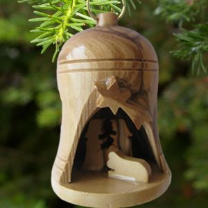 ACM35 Olive Wood Nativity Bell