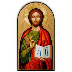 Byzantine Christ Dome Plaque 8x15