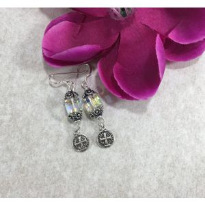 Saint Benedict Swarovski Earrings