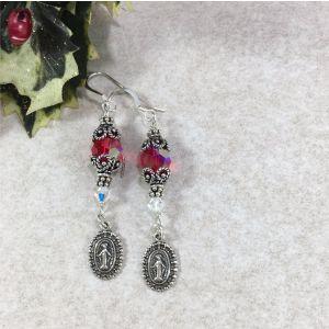 Genuine Ruby Swarovski Crystal Earrings