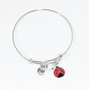 Ladybug Bangle Bracelet