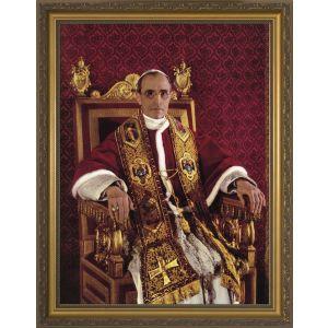 Venerable Pope Pius XII - Gold Framed Art