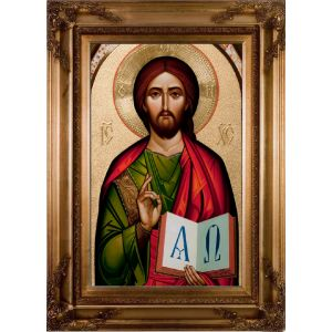 Byzantine Christ 10x16 Wall Plaque
