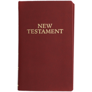 Pocket New Testament - Simulated Leather Burgundy