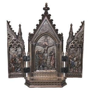 Bronze Calvary Triptych 4x8