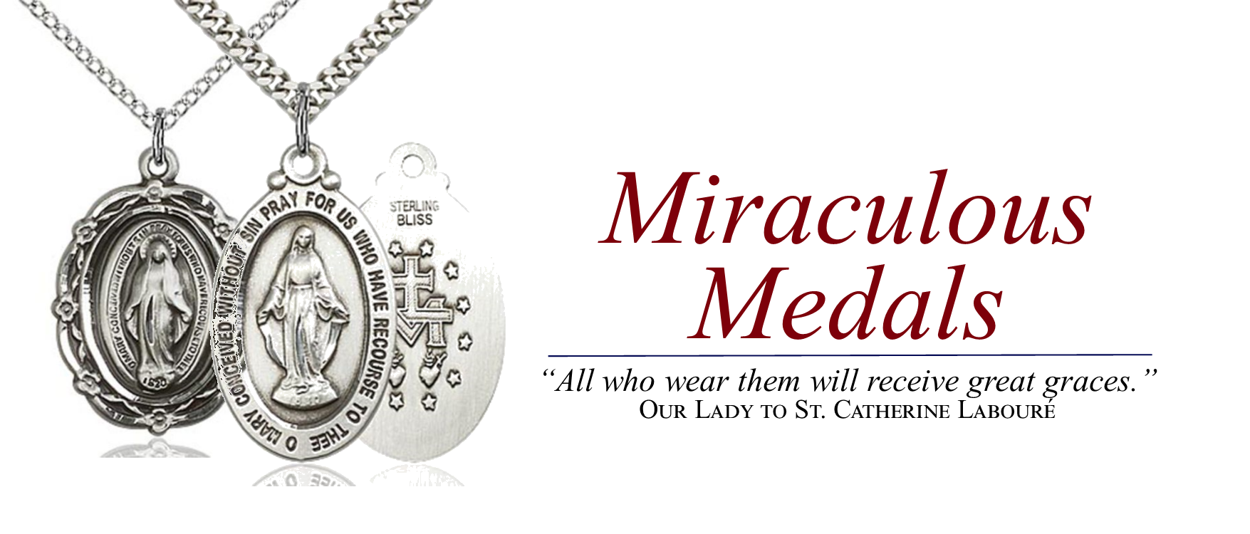 6 Miraculous Medals - Home Page Sliders